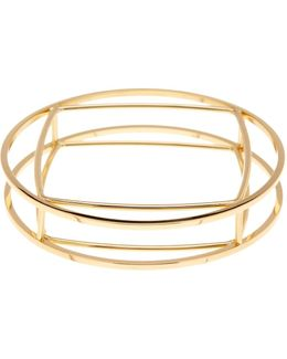 Geometric Cutout Bangle