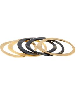 5-piece Flat Irregular Bangle Set