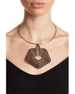 Drama Pentagon Pendant Collar Necklace