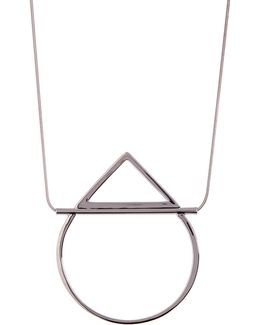 Open Geo Teardrop Pendant Necklace
