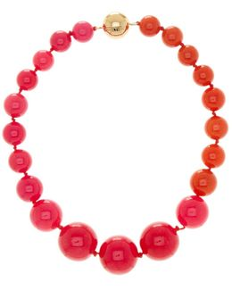 Large Two-tone Graduated Bead Necklace