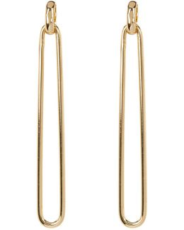 Elongated Slim Doorknocker Earrings