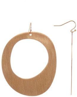 Flat Open Drop Earrings