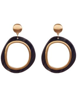 Two-tone Doorknocker Earrings