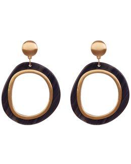 Two-tone Doorknocker Earrings