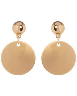 Double Drop Disc Earrings