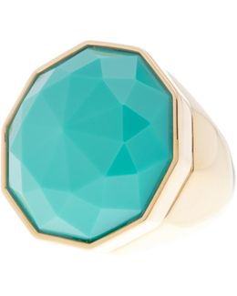 Faceted Stone Cocktail Ring - Size 7