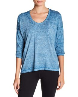 Clementine Long Sleeve Burnout Tee
