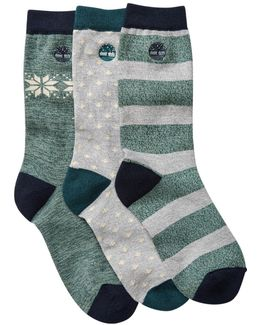 Assorted Cooltouch Crew Socks - Pack Of 3
