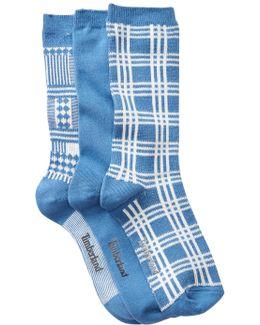 Assorted Crew Socks - Pack Of 3