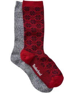 Marled Crew Socks - Pack Of 2