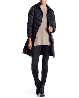 Packable Natural Down Quilted Long Jacket