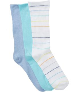 Roll Top Socks - Pack Of 3