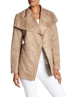 Short Wrap Trench Coat