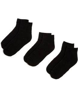 Roll Top Shortie Socks - Pack Of 3