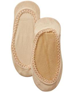 Lace Trim Liner Socks - Pack Of 2
