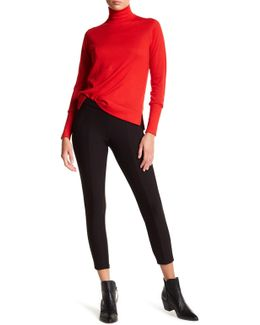 Seamed Double Knit Skimmer Leggings