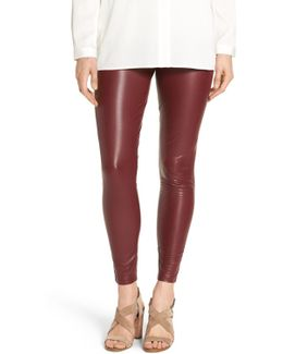 'leatherette' Faux Leather Leggings