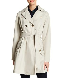 Hooded Flared Trench Coat