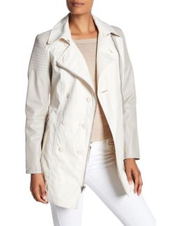 Moto Sleeve Trench Coat