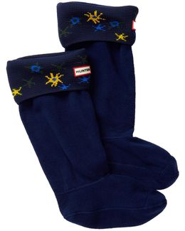 Original Tall Star Print Cuff Sock