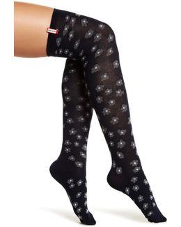 Flower Cuff Original Tall Welly Socks