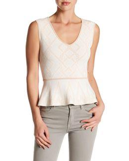 Alonya Knit Peplum Shirt