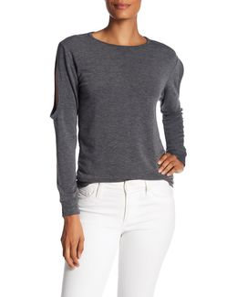 Cold Shoulder Long Sleeve Tee