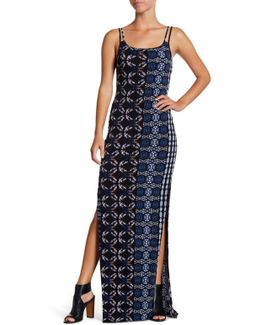 Scoop Neck Printed Tank Maxi Dress