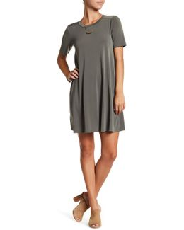 Short Sleeve Knit Shift Dress
