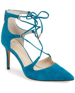Toni Lace-up Pointed Toe Pump