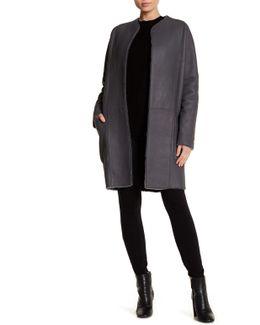 Reversible Genuine Shearling Carcoat