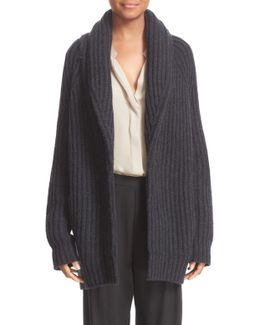 Wool & Cashmere Knit Car Coat