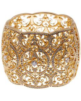 Openwork & Cz Embellished Bracelet
