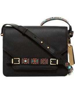 Abra Embellished Leather Crossbody