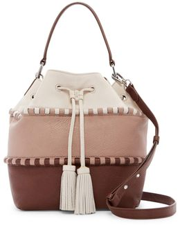 Edena Leather Drawstring Satchel