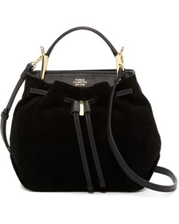 Enzy Leather Drawstring Shoulder Bag