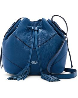 Fargo Leather Drawstring Crossbody