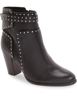 Faythes Studded Suede Ankle Boots