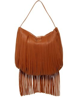 Irene Leather Fringe Hobo