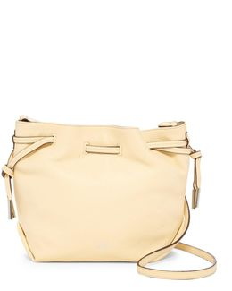 Nisha Leather Drawstring Crossbody