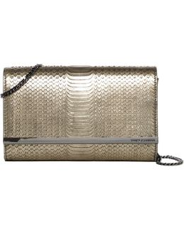 Phurn Embossed Leather Clutch