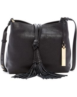 Taro Leather Tassel Crossbody