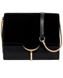 Zana Leather & Suede Shoulder Bag