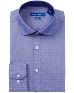 Twill Trim Fit Dress Shirt