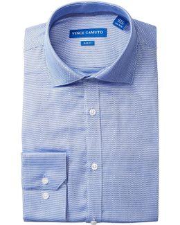 Cerulean Diamond Dobby Slim Fit Dress Shirt