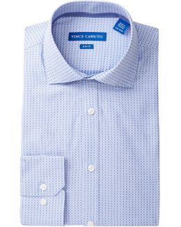 Cerulean Dot Dobby Slim Fit Dress Shirt