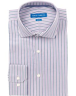 Violet Stripe Slim Fit Dress Shirt