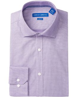 Violet Checker Slim Fit Dress Shirt