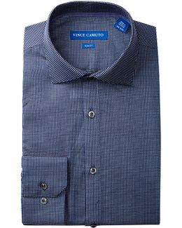 Lapis Square Dobby Slim Fit Dress Shirt
